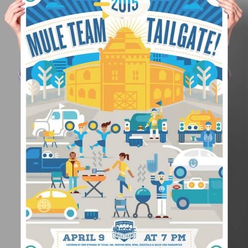 Alamo Heights 2015 Mule Team Poster