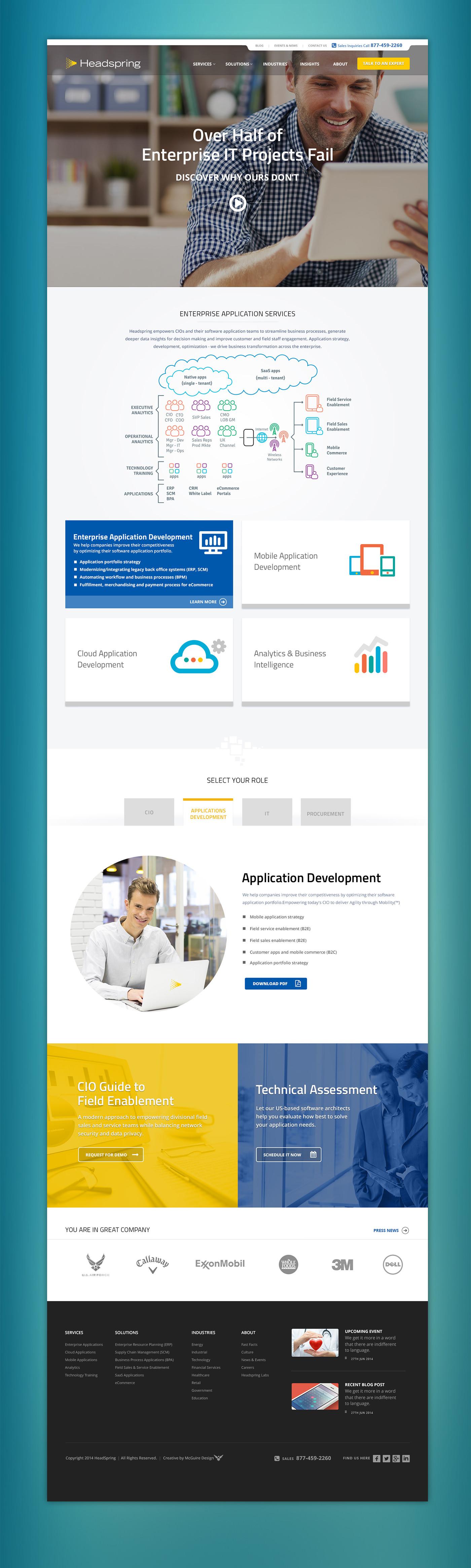 Headspring Website Homepage