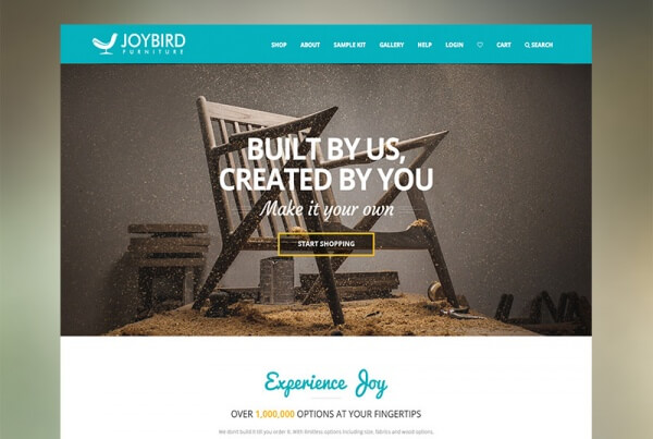 Joybird Furniture Website Feature