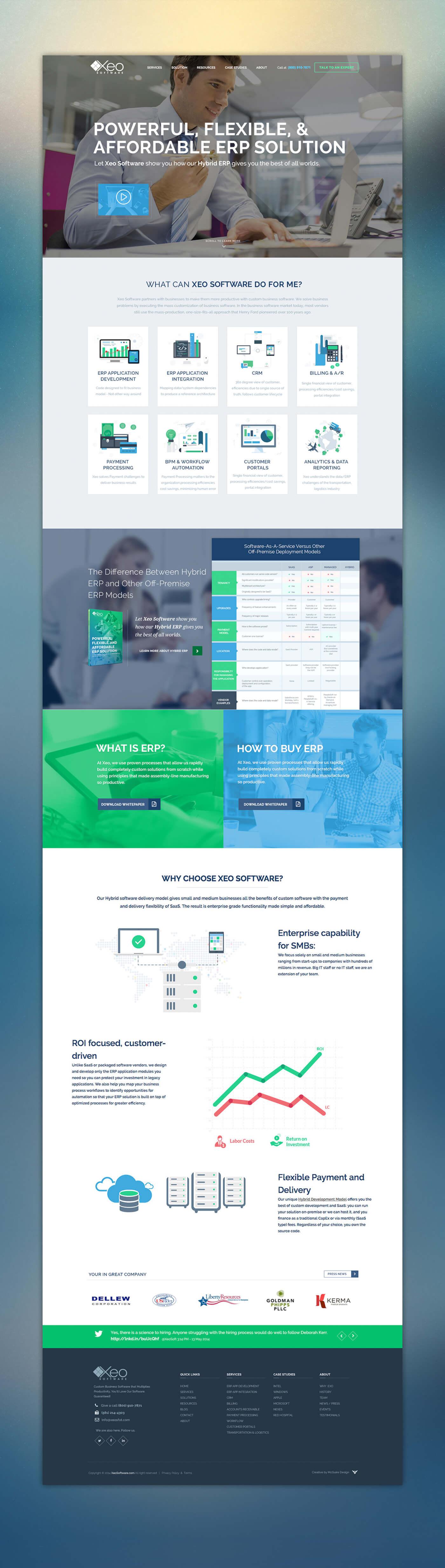 XEO Software Website Homepage