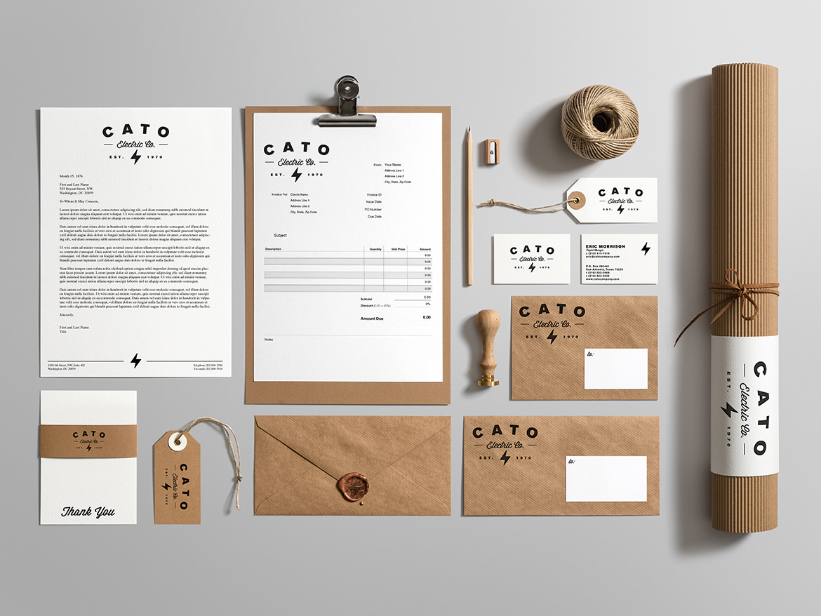 Cato Electric Company Stationery