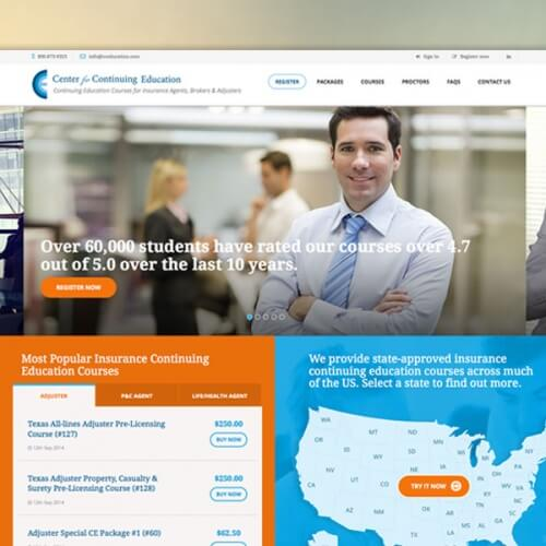 Center for Continuing Education Website Feature