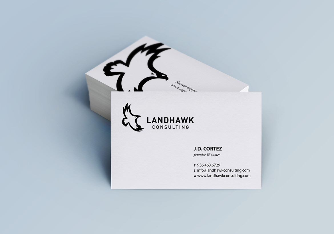 Landhawk Consulting Business Card