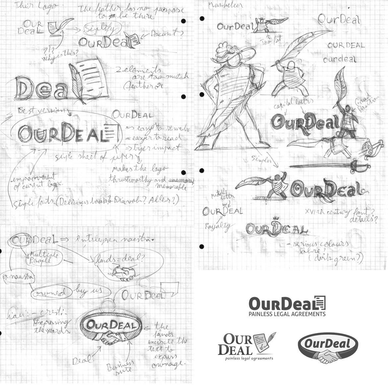 OurDeal Brainstorming Logo