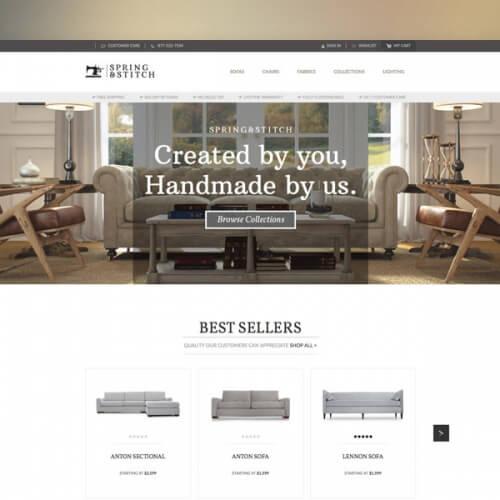 Spring and Stitch Furniture Website Design