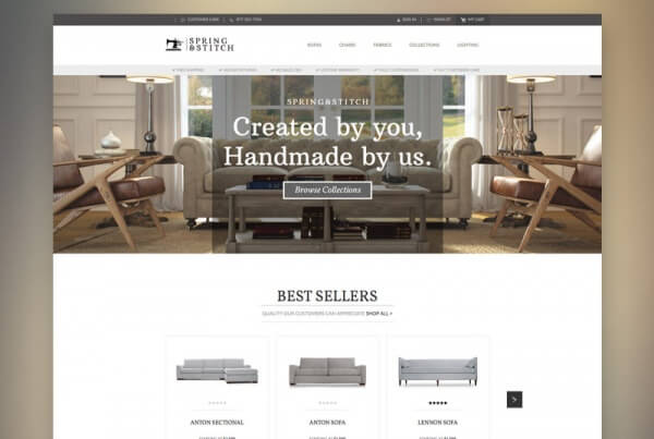 Spring and Stitch Furniture Website Design